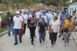 Entregan vía pavimentada para mejorar entorno del parque El Recuerdo de Santo Tomás